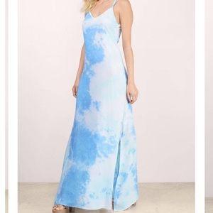 NEW Tobi Skies Blue Tie Dye Maxi Dress
